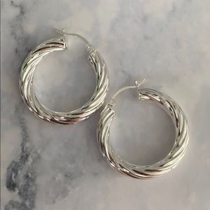 Sterling Silver 925 Plated with Rodium Earrings